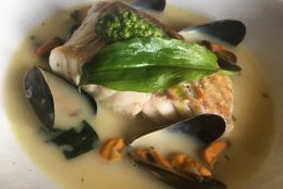 Black Pollock and Wild Garlic Mussels