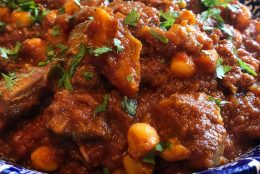 Goat, Chickpea and Apricot Tagine